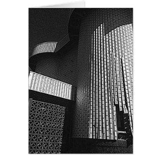 Modernt arkitekturhälsningkort hälsningskort