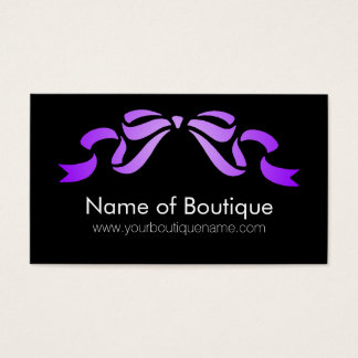 Modernt band för för Boutiquelilor och svart Visitkort