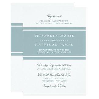 Modernt bröllop för ankaäggblått 12,7 x 17,8 cm inbjudningskort