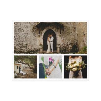 Modernt bröllop kopplar ihop minimalisten för fyra canvastryck