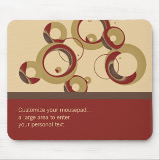 Modernt bubblar randiga Mousepad - beige Musmatta