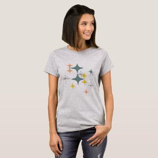 Modernt Eames atom- Starbursts för mitt- T Shirts