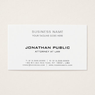Modernt elegantt enkelt för yrkesmässig visitkort