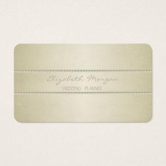 Modernt elegantt stilfullt enkelt, pärlor visitkort