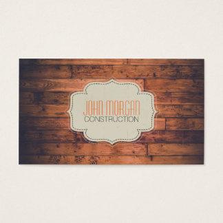 Modernt elegantt yrkesmässigt konstruktionsträ visitkort