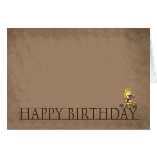 Modernt födelsedagkort - grattis på födelsedagen -