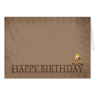 Modernt födelsedagkort - grattis på födelsedagen - hälsningskort