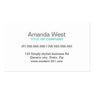 Modernt generiskt enkelt elegantt personligt för set av standard visitkort