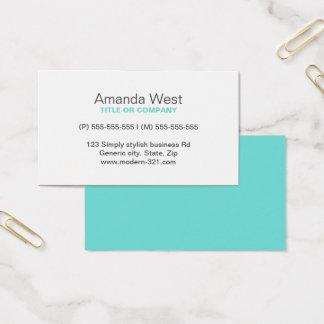 Modernt generiskt enkelt elegantt personligt för visitkort
