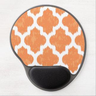 Modernt geometriskt för orange Ikat Quatrefoil Gel Musmatta