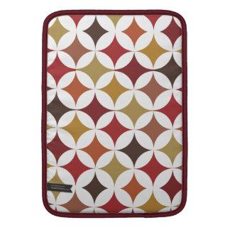 Modernt geometriskt Retro cirklar jord tonar MacBook Air Sleeve
