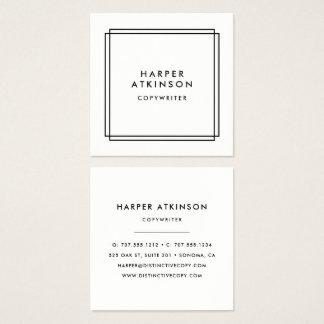 Modernt gränsat svartvitt fyrkantigt visitkort