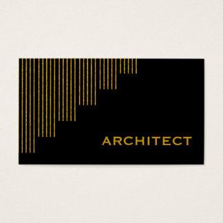 Modernt guld, den svart lodrät görar randig visitkort