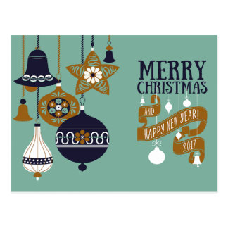 Modernt julhälsningkort vykort
