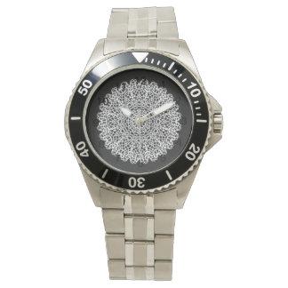 Modernt kaleidoscopemönster armbandsur