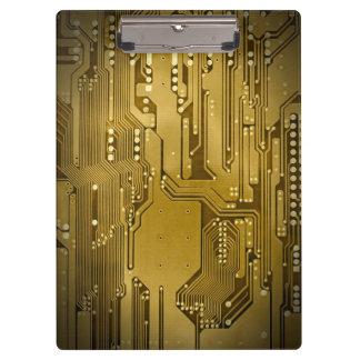 Modern Cool Gold Circuit Board High Tech Photo