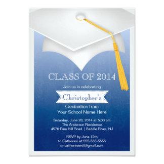 Modernt klassificera av studentfestinbjudan 2014 12,7 x 17,8 cm inbjudningskort