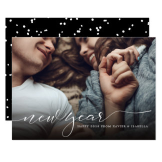 Modernt kort för foto för helgdag för nytt år för 12,7 x 17,8 cm inbjudningskort