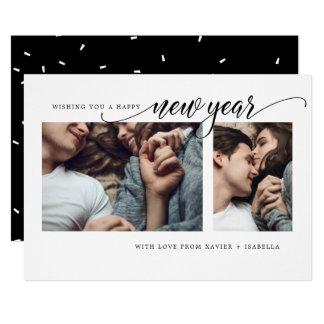 Modernt kort för helgdag för nytt år för Collage 12,7 X 17,8 Cm Inbjudningskort