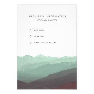 Modernt kort för information om vattenfärgberg 8,9 x 12,7 cm inbjudningskort