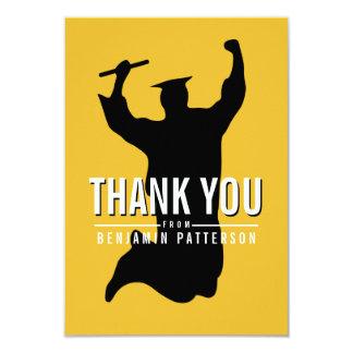 Modernt kort för tack för frimärkefotostudenten 8,9 x 12,7 cm inbjudningskort