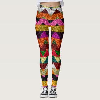 Modernt läder #11 för färgrik sparre leggings