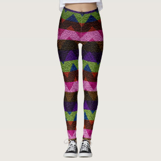 Modernt läder #7 för färgrik sparre leggings
