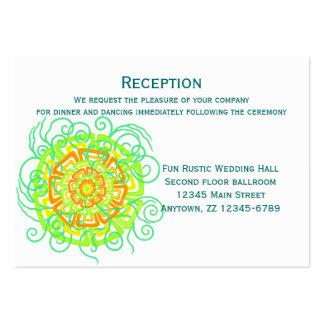 Modernt lantligt blom- bröllop för citrus blomma set av breda visitkort
