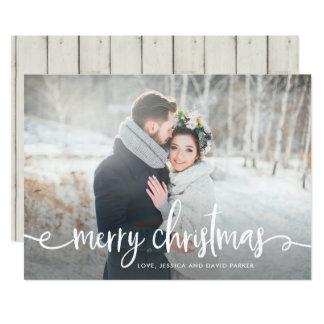 Modernt lantligt foto för god jul | 12,7 x 17,8 cm inbjudningskort
