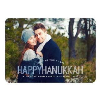 Modernt lyckligt Hanukkah fotokort 12,7 X 17,8 Cm Inbjudningskort