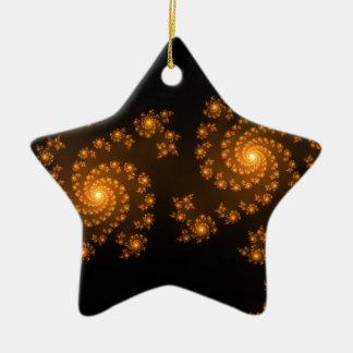 Modernt Mandelbrot för Julia Fractalkonst mönster Julgransprydnad Keramik