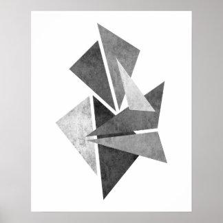 Modernt minimalist geometriskt abstrakt konsttryck poster