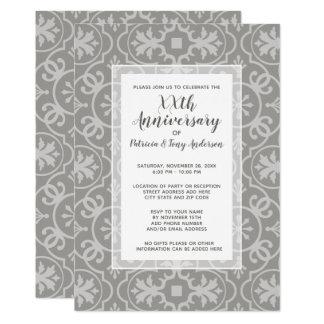 Modernt mönster för bröllopsdagparty något år 12,7 x 17,8 cm inbjudningskort