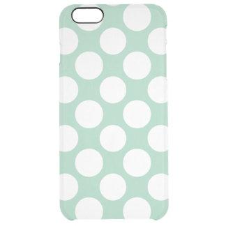 Modernt mönster för polka dots för Mintgröntvit Clear iPhone 6 Plus Skal