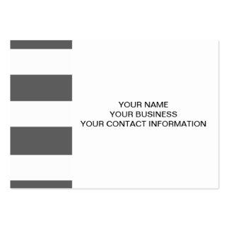 Modernt mönster för randar för kolgråttvit set av breda visitkort