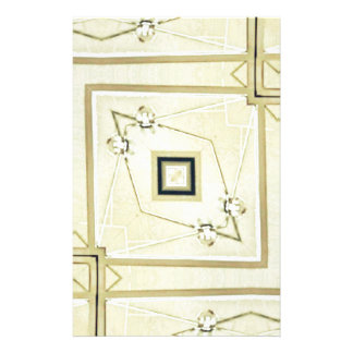 Modernt neutralt geometriskt höftmönster brevpapper
