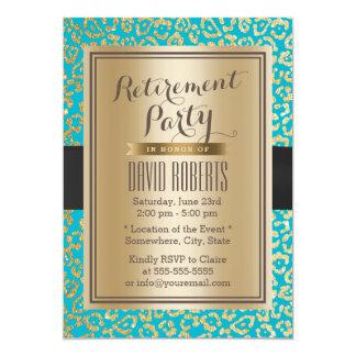 Modernt party för pension för kricka- & 12,7 x 17,8 cm inbjudningskort