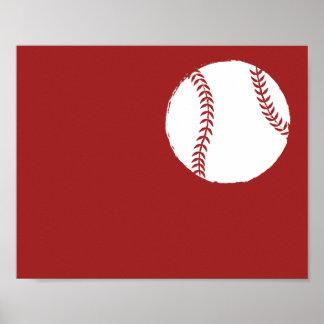 Modernt räcka målad baseballkonst - 1 av 6 poster