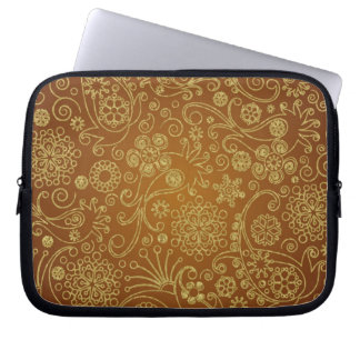 Modernt Retro Paisley Seamless mönster Laptop Fodral