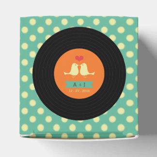 Modernt Retro vinylrekordbröllop Presentaskar