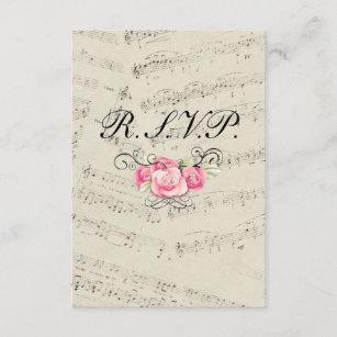 96a705fd217b Modernt romantiskt musik noterbröllop OSAsvar OSA Kort
