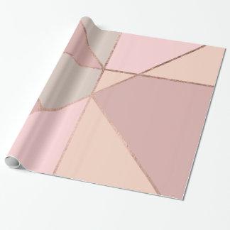 Modernt rosa guld- kvarter för färg för presentpapper