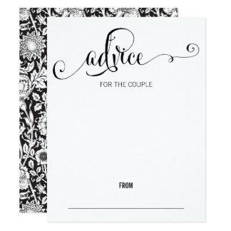 Modernt skrivar vi brölloprådgivningkortet 10,8 x 14 cm inbjudningskort