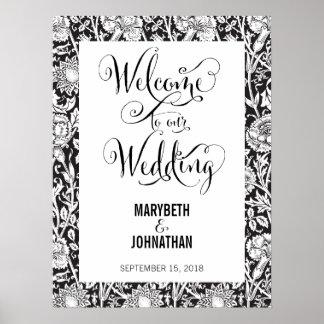 Modernt skrivar vi bröllopvälkomnandeaffischen poster