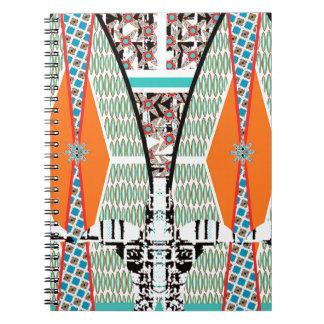 Modernt stads- stam- ljust geometriskt mönster anteckningsbok