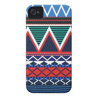 Modernt stam- för blått & för korall iPhone 4 Case-Mate skydd