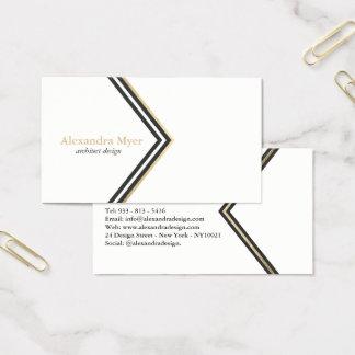 Modernt svart fauxguld görar randig visitkorten visitkort