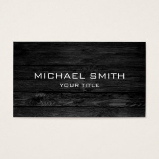 Modernt svart trä visitkort
