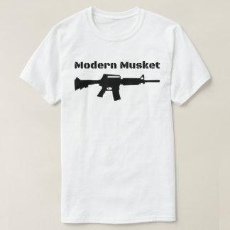 Modernt svartgevär Molon Labe för Musket AR15 M16 Tee Shirt