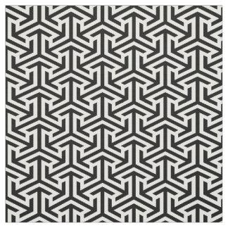 modernt tryck för svartvitt geometriskt mönster tyg